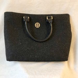 Heather Grey Felted Wool Tote